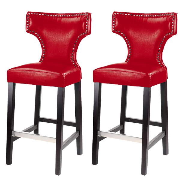 Laughing Sun 29.25 Bar Stool (Set of 2) by Red Barrel Studio