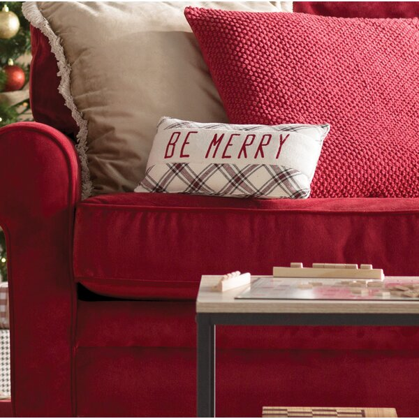 Cody Be Merry Lumbar Pillow by Laurel Foundry Modern Farmhouse