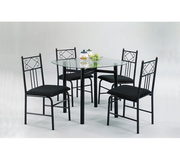 Selina 5 Piece Dining Set by A&J Homes Studio