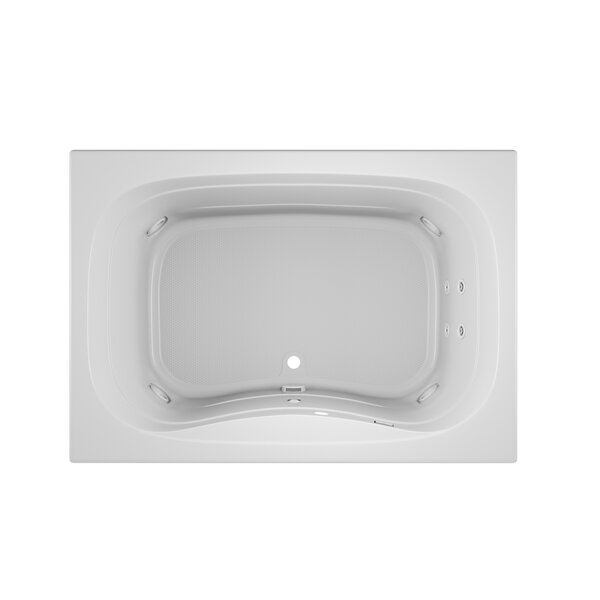 Signa Left-Hand Heater and Chroma 60 L x 42 W Drop In Whirlpool Bathtub by Jacuzzi®
