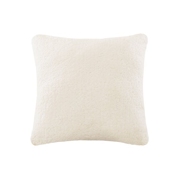Aurelio Sherpa to Softspun Euro Pillow by Wrought Studio