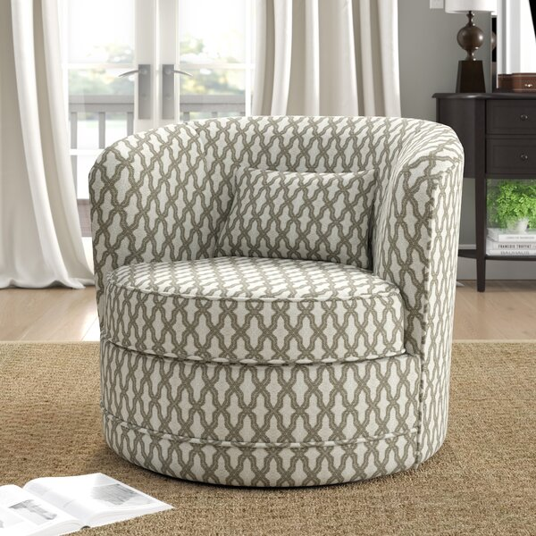Dmitri Swivel Barrel Chair By Alcott Hill by Alcott Hill Discount