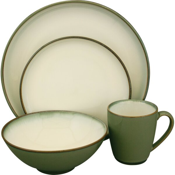 Concepts Avocado 16 Piece Dinnerware Set, Service for 4 by Sango