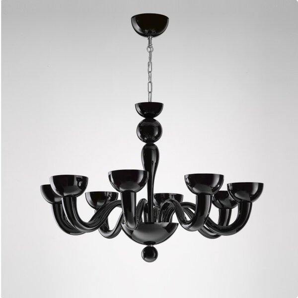 Tate 6 - Light Shaded Classic / Traditional Chandelier by ZANEEN design ZANEEN design