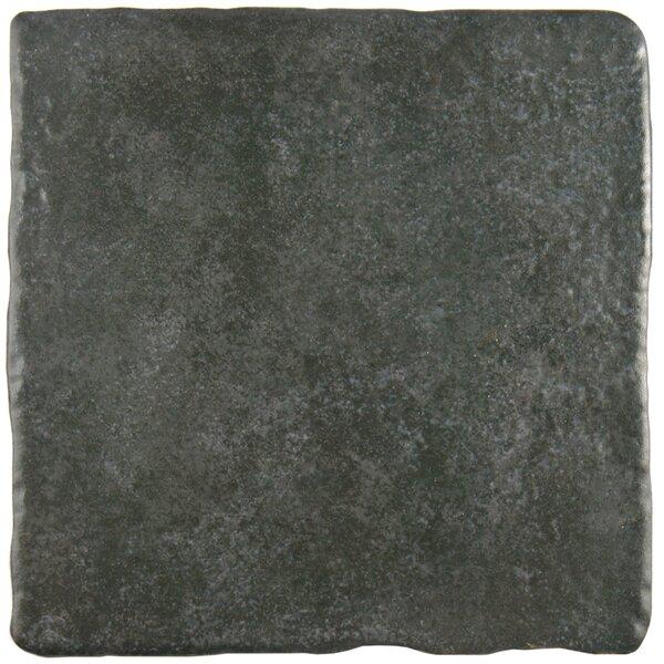Diego 7.75 x 7.75 Ceramic Field Tile in Grafito by EliteTile