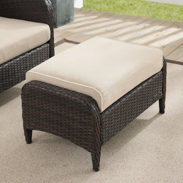 Mosca Outdoor Ottoman with Cushion by World Menagerie