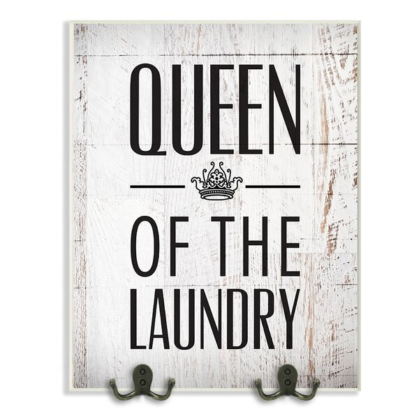 Queen of the Laundry with Crown Textual Art Wall Plaque by Stupell Industries