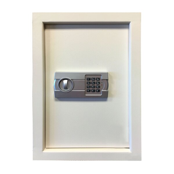 Durable Steel Wall Safe with Electronic Keypad Lock by Offex