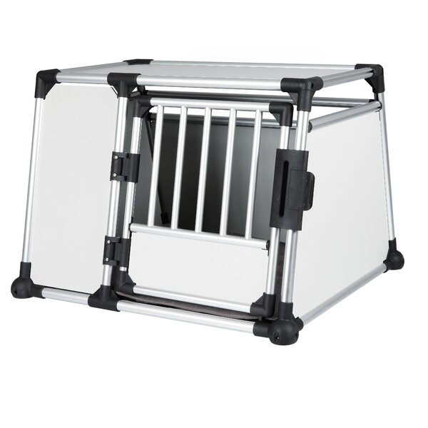 Luther Scratch-Resistant Metallic Pet Crate by Tucker Murphy Pet
