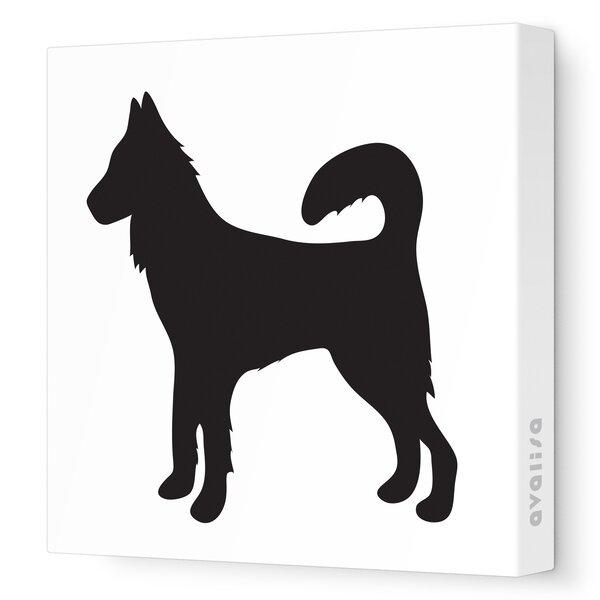 Silhouettes Dog Stretched Canvas Art by Avalisa