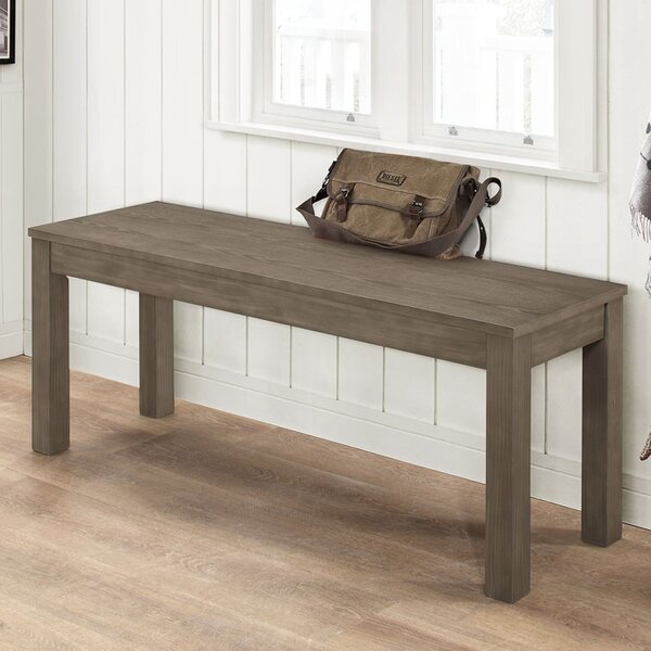 Chetna Simple Wood Bench by Gracie Oaks