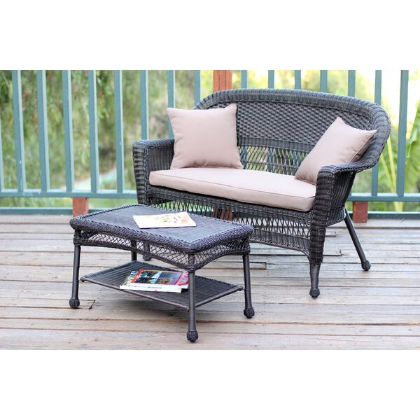 Nathanael 2 Piece Sofa Set with Cushions by Rosecliff Heights