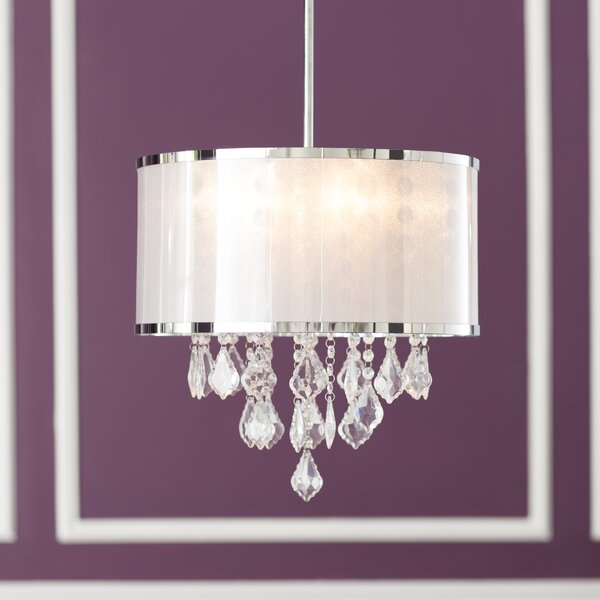 Lindsey 4 - Light Shaded Drum Chandelier By Willa Arlo Interiors
