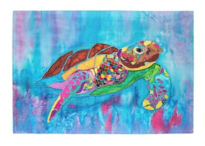 Turtle Time Placemat (Set of 2) by Live Free