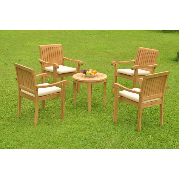 Ruger 5 Piece Teak Dining Set by Rosecliff Heights