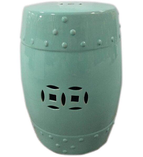 Palafox Ceramic Garden Stool by Bungalow Rose