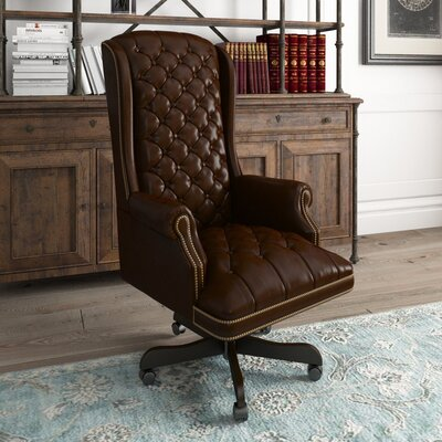 Bellin Clark Ergonomic  Executive Chair Canora Grey Upholstery Color: Brown