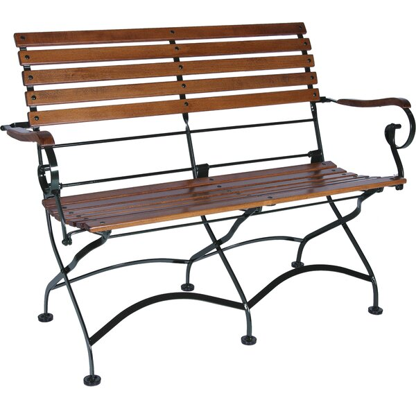 African Teak Folding 2-Seat Bench with Arms by Furniture Designhouse