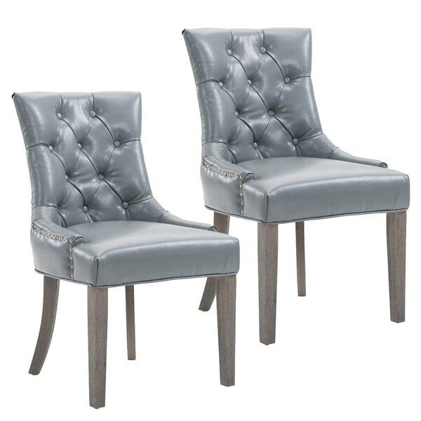 Caribe Upholstered Dining Chair (Set of 2) by Rosecliff Heights