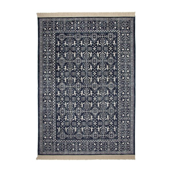 Beecroft Navy/White Area Rug by Darby Home Co