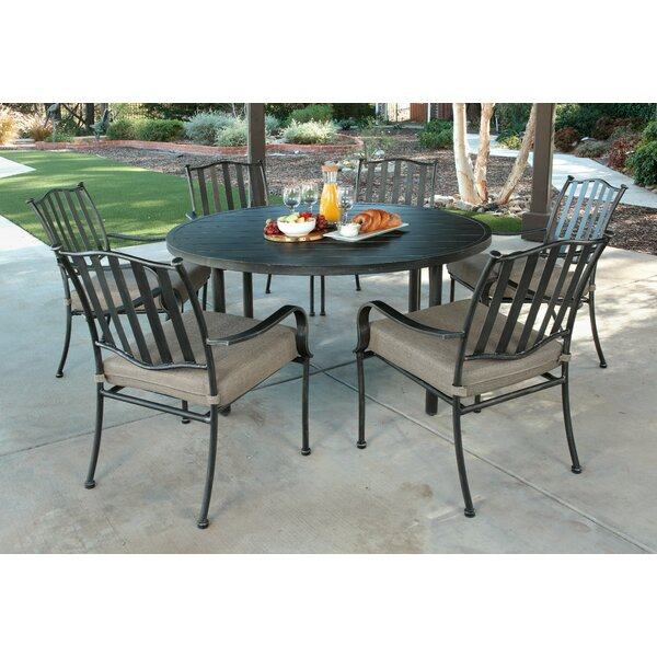 Jamila 7 Piece Dining Set with Cushions by Darby Home Co