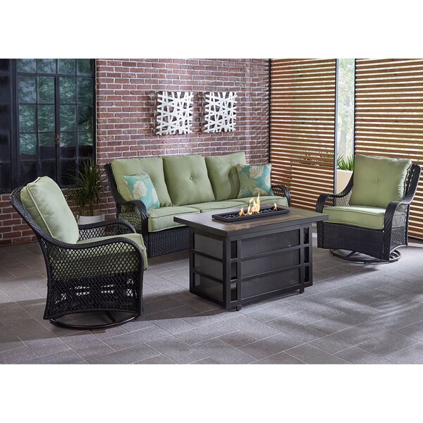 Walker 4 Piece Seating Group with Cushions by Bay Isle Home