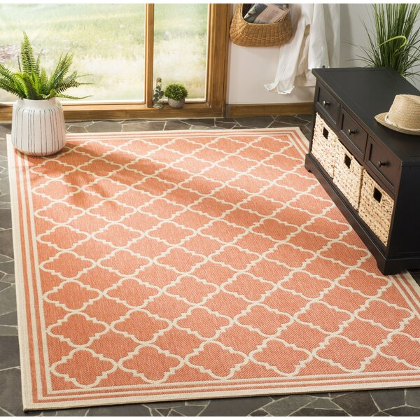 Berardi Rust/Cream Area Rug by Darby Home Co