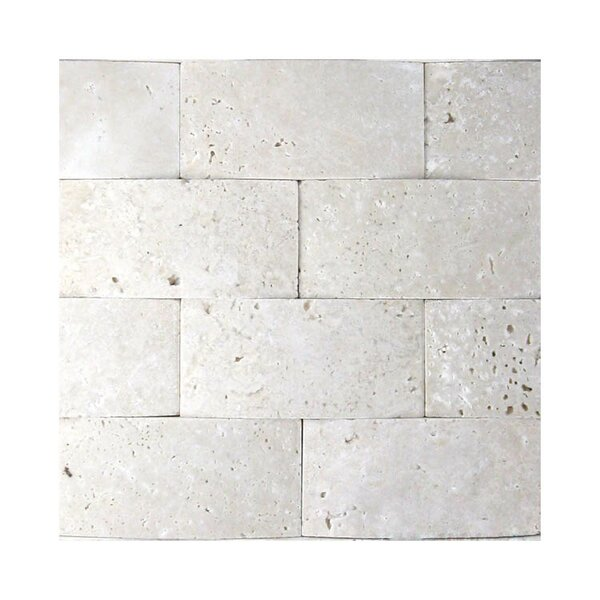 3D Honed 2 x 4 Natural Stone Mosaic Tile in White by QDI Surfaces