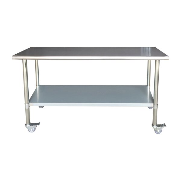 Lewallen Commercial Rolling Prep Table by Symple Stuff