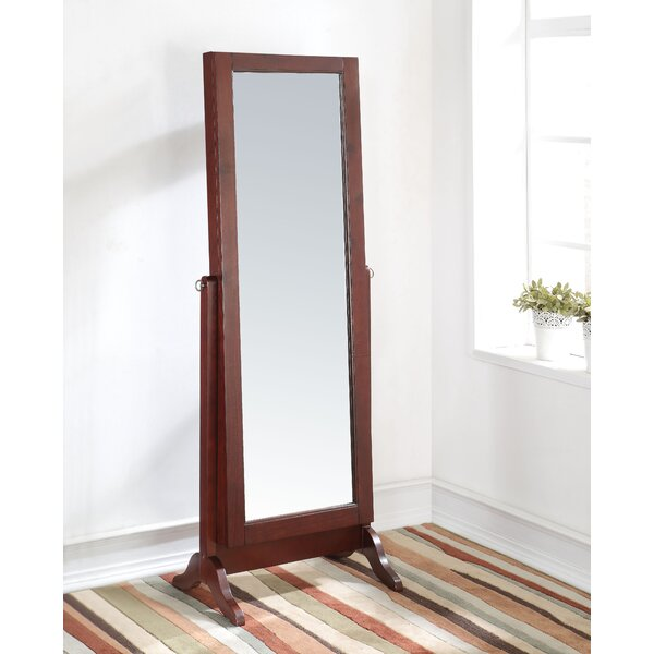 Hemel Free Standing Jewelry Armoire with Mirror by Alcott Hill