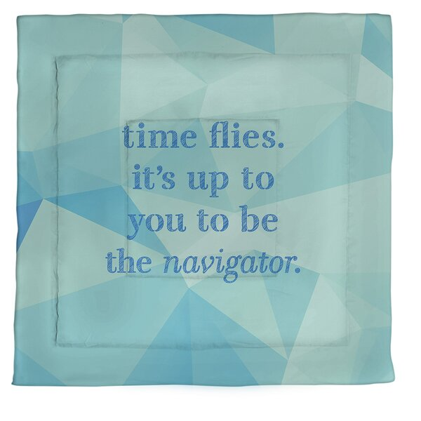 Time Flies Single Reversible Comforter