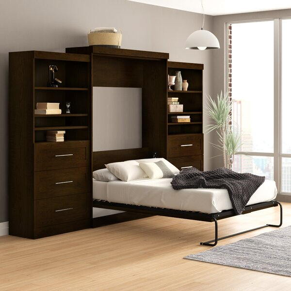 Ziva Storage Murphy Bed By Beachcrest Home by Beachcrest Home Cheap