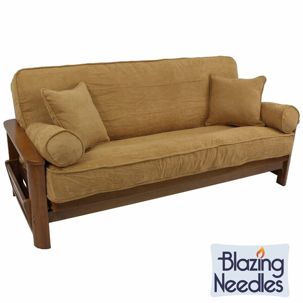 Double-Corded Box Cushion Futon Slipcover Set by A