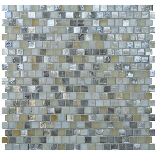 Opal 0.63 x 0.63 Glass Mosaic Tile in Seashell by Kellani
