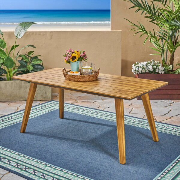 Acanthe Solid Wood Dining Table by Union Rustic