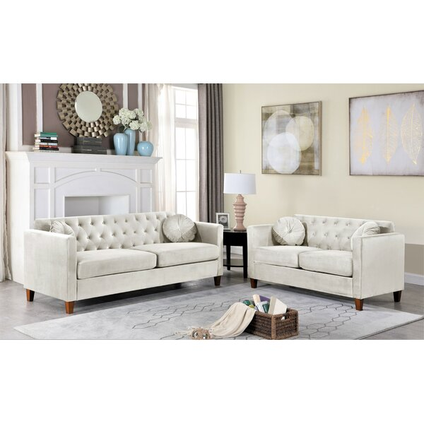 Rashid 2 Piece Living Room Set by Everly Quinn Everly Quinn