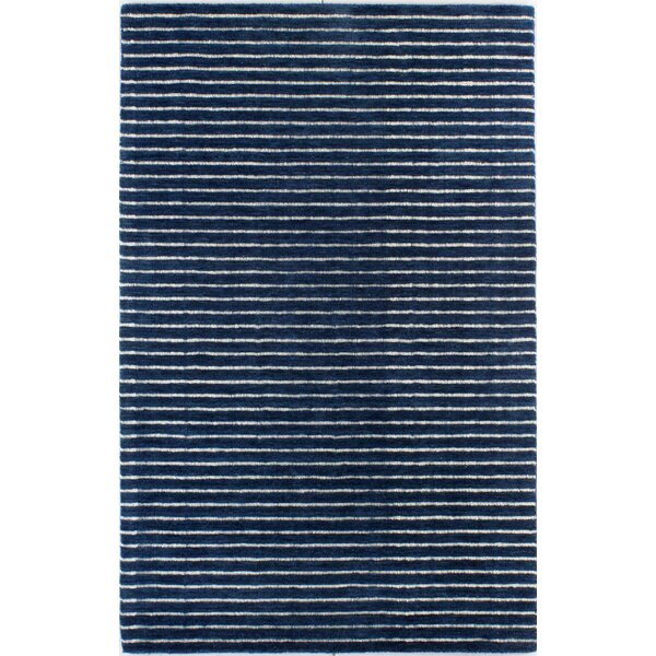 Worsham Hand-Woven Wool Blue Area Rug by Mercury Row