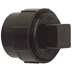 ABS-DWV Fitting Clean-Outs with Threaded Plug by GenovaProducts