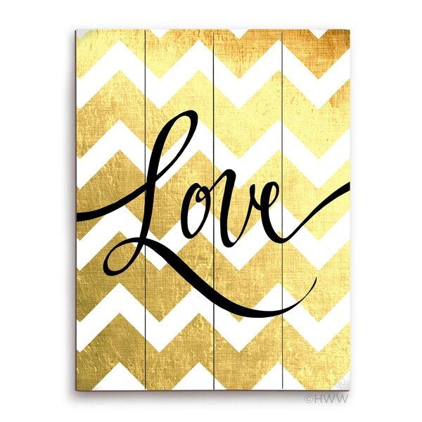 Love Textual Art Plaque by Click Wall Art
