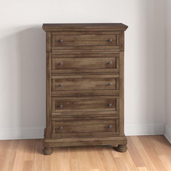 Penwortham 5 Drawer Standard Dresser/Chest by Three Posts
