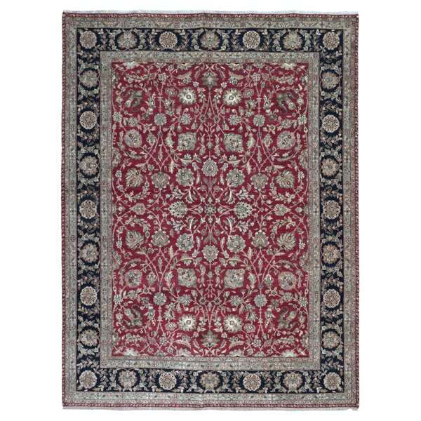 One-of-a-Kind Slagen Oriental Hand Woven Wool Gray Area Rug by Isabelline