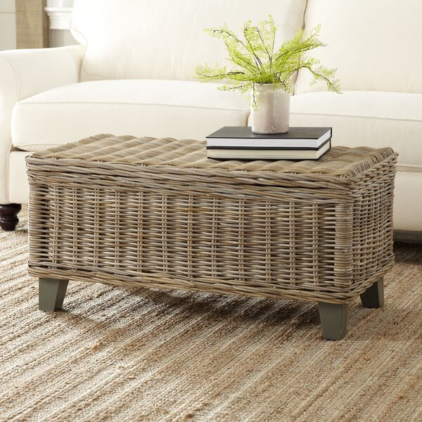 North Bay Rattan Coffee Table With Storage By Rosecliff Heights