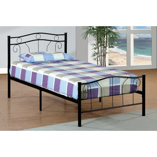 Hogarth Metal Twin Slat Bed by Harriet Bee