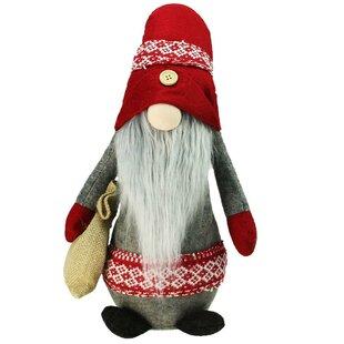 b3b3e739404 Plush Nordic Santa Christmas Gnome with Burlap Sack Tabletop Figure