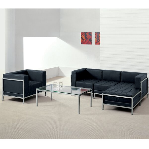 Tomica Leather Configurable Living Room Set by Orren Ellis