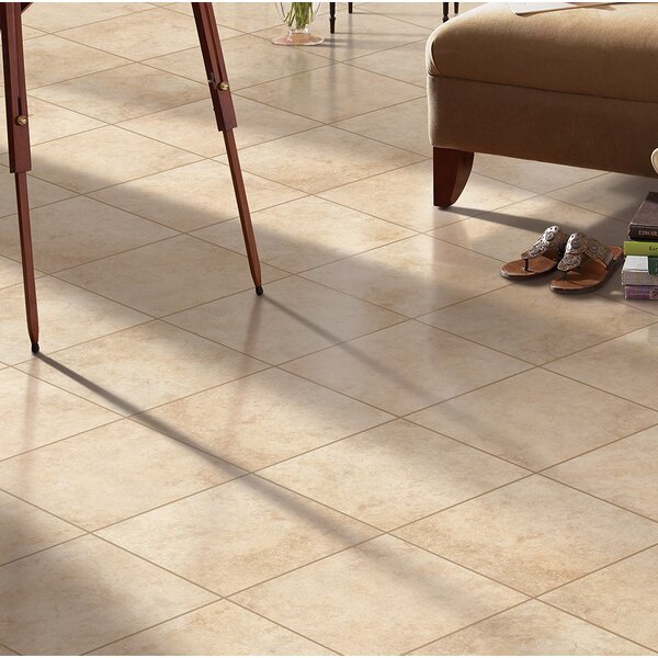 Adelphia Glazed 13 x 13 Porcelain Field Tile in Sabbia by Mohawk Flooring