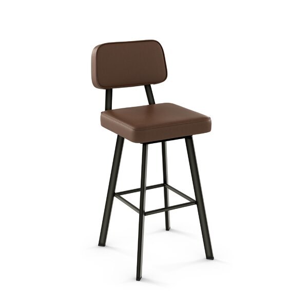 Cloran 30 Swivel Semi-Transparent Bar Stool by 17 Stories