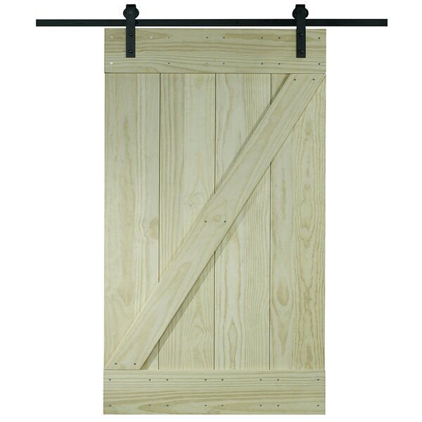 Pinecroft 1 Panel Unfinished Interior Barn Door by LTL Barn Doors