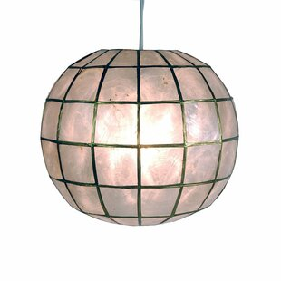Nolan Princess Capiz 1 Light Hanging Pendant