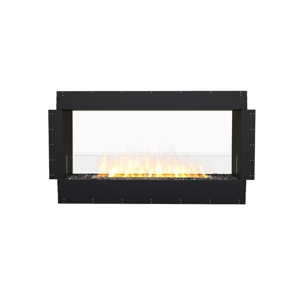 FLEX50 Double Sided Wall Mounted Bio-Ethanol Fireplace Insert by EcoSmart Fire